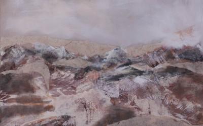 """84/14 """"Sandland"""" (Acryl, Sand, Papier)"""